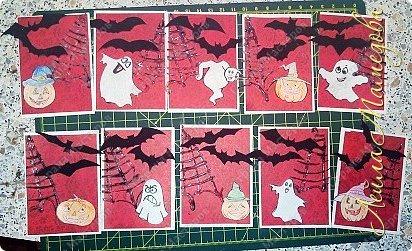 """Всем доброго времени суток!!! Серия карточек для обмена. Этап №1 """"Хэллоуин"""". Выбирают участники Совместника http://stranamasterov.ru/node/1055187?c=favorite . Пыталась имитировать паутину. фото 1"""