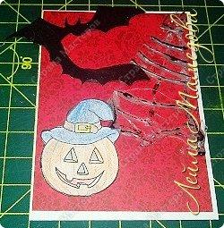 """Всем доброго времени суток!!! Серия карточек для обмена. Этап №1 """"Хэллоуин"""". Выбирают участники Совместника http://stranamasterov.ru/node/1055187?c=favorite . Пыталась имитировать паутину. фото 2"""