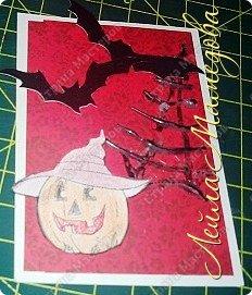 """Всем доброго времени суток!!! Серия карточек для обмена. Этап №1 """"Хэллоуин"""". Выбирают участники Совместника http://stranamasterov.ru/node/1055187?c=favorite . Пыталась имитировать паутину. фото 8"""