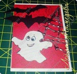"""Всем доброго времени суток!!! Серия карточек для обмена. Этап №1 """"Хэллоуин"""". Выбирают участники Совместника http://stranamasterov.ru/node/1055187?c=favorite . Пыталась имитировать паутину. фото 9"""