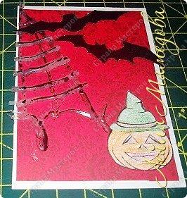 """Всем доброго времени суток!!! Серия карточек для обмена. Этап №1 """"Хэллоуин"""". Выбирают участники Совместника http://stranamasterov.ru/node/1055187?c=favorite . Пыталась имитировать паутину. фото 10"""
