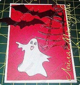 """Всем доброго времени суток!!! Серия карточек для обмена. Этап №1 """"Хэллоуин"""". Выбирают участники Совместника http://stranamasterov.ru/node/1055187?c=favorite . Пыталась имитировать паутину. фото 11"""