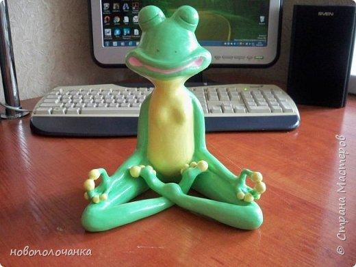 """Здравствуйте.     Дочь в интернете увидела    медитирующую лягушку. Картинка с лягушкой ей очень понравилась. Позвонила мне: """" Мама я хочу такую же лягушку"""" А мама для своих деток – волшебница, которая сделает всё.   фото 45"""