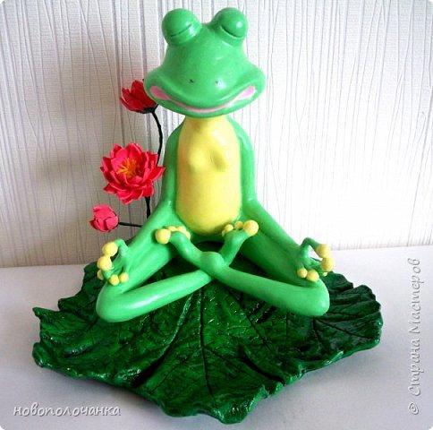 """Здравствуйте.     Дочь в интернете увидела    медитирующую лягушку. Картинка с лягушкой ей очень понравилась. Позвонила мне: """" Мама я хочу такую же лягушку"""" А мама для своих деток – волшебница, которая сделает всё.   фото 1"""