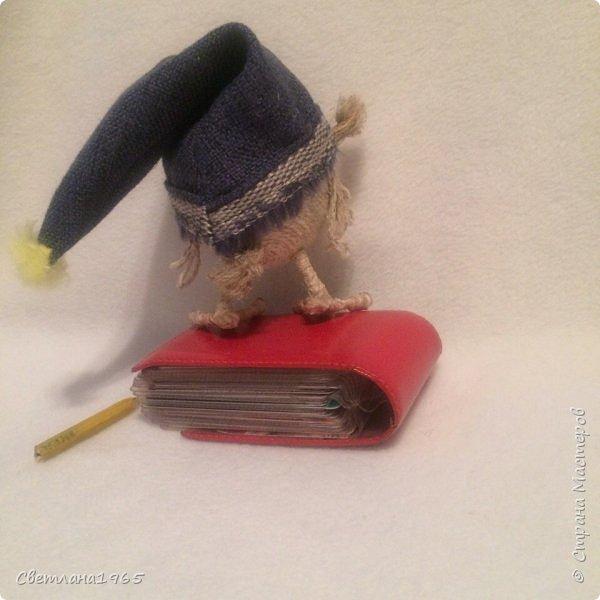 Приветствую всех!Сова на пенопластовом шарике,глаза из глины Спасибо замечательной мастерице   Ольге К.О.В. за мк,у неё подглядела,как делать лапки из ватных палочек,не тратясь на проволоку  фото 3