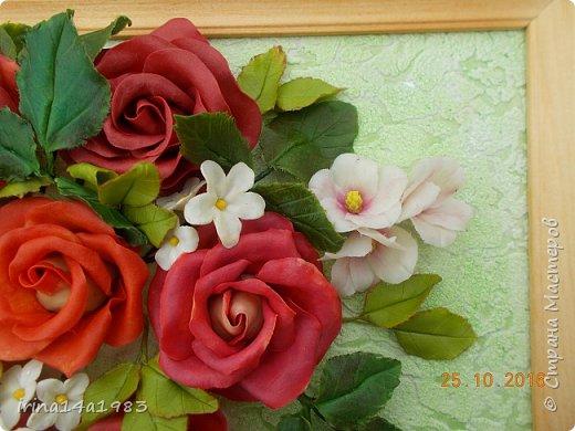 Всем добрый день!!!! И снова у меня розы(набиваю руку). Все розы двуцветные, кроме самой темной. Спасибо Наталье Бурцевой, впервые увидела у нее. Но раскатываю лепестки по своему.  фото 6