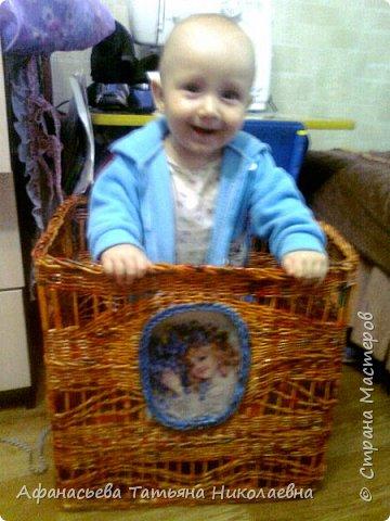 Здравствуйте всем! Сегодня у меня вот такой веселый короб! Попросили для игрушек и цвет чтобы оранжевый... фото 1
