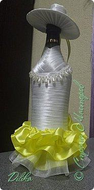 Эта и последующие бутылочки созданы по МК http://stranamasterov.ru/node/225893?c=favorite  Огромное спасибо мастеру за такой понятный МК.  А также спасибо всем мастерицам за идеи и вдохновение :))) Как сделать шляпку - почерпнуто на просторах интернета фото 1