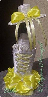 Эта и последующие бутылочки созданы по МК http://stranamasterov.ru/node/225893?c=favorite  Огромное спасибо мастеру за такой понятный МК.  А также спасибо всем мастерицам за идеи и вдохновение :))) Как сделать шляпку - почерпнуто на просторах интернета фото 6