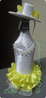 Эта и последующие бутылочки созданы по МК http://stranamasterov.ru/node/225893?c=favorite  Огромное спасибо мастеру за такой понятный МК.  А также спасибо всем мастерицам за идеи и вдохновение :))) Как сделать шляпку - почерпнуто на просторах интернета фото 7