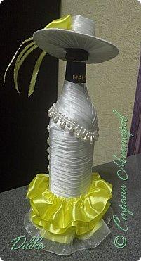 Эта и последующие бутылочки созданы по МК http://stranamasterov.ru/node/225893?c=favorite  Огромное спасибо мастеру за такой понятный МК.  А также спасибо всем мастерицам за идеи и вдохновение :))) Как сделать шляпку - почерпнуто на просторах интернета фото 8