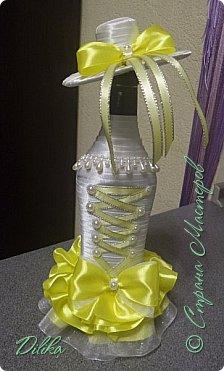 Эта и последующие бутылочки созданы по МК http://stranamasterov.ru/node/225893?c=favorite  Огромное спасибо мастеру за такой понятный МК.  А также спасибо всем мастерицам за идеи и вдохновение :))) Как сделать шляпку - почерпнуто на просторах интернета фото 9