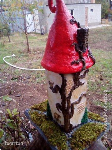 добрый день страна!вот такой домик из инкерманского белого камня я сделала в садик деткам.мучалась неделю .больше всего труба нравится дымоходная) фото 1