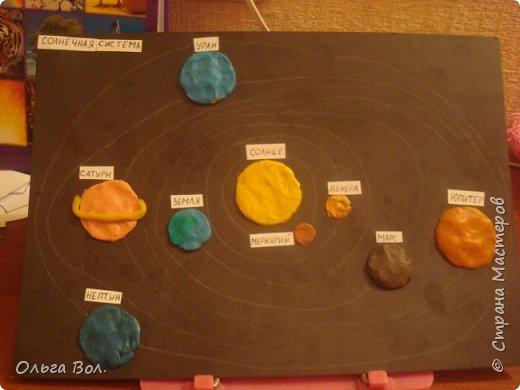 Макет солнечной системы из пластилина.Для урока - Окружающий мир.Работа дочери. фото 4