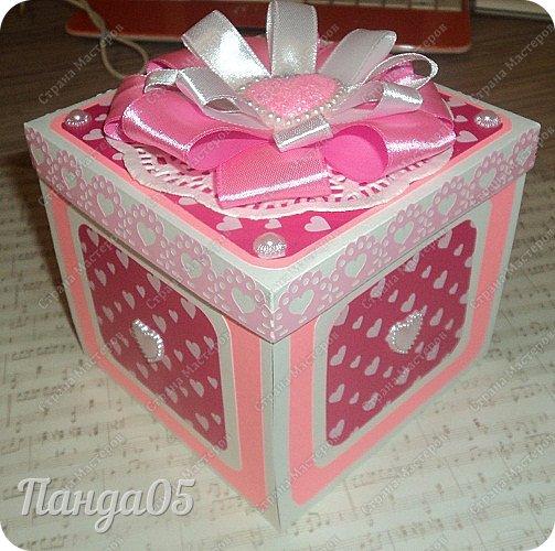 Здравствуйте всем!  Очередной заказ на Magic Box у меня образовался,ко дню рождения девушке 25 лет. Из пожеланий заказчицы был розовый цвет,календарик и туфелька. Итак,очередное дефиле)) фото 1