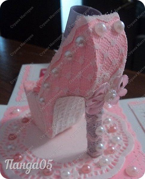 Здравствуйте всем!  Очередной заказ на Magic Box у меня образовался,ко дню рождения девушке 25 лет. Из пожеланий заказчицы был розовый цвет,календарик и туфелька. Итак,очередное дефиле)) фото 10