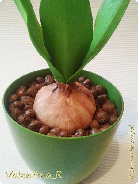 Попыталась сделать гиацинт... сам процесс создания очень затягивает, а вот результат бывает разный. В итоге получился вот такой цветок. Подарок для свекрови. фото 3