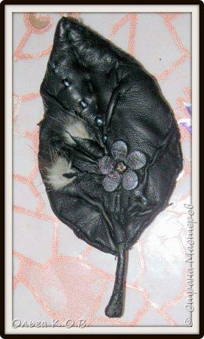 Брошка  из старой перчатки фото 3