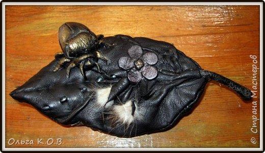 Брошка  из старой перчатки фото 4