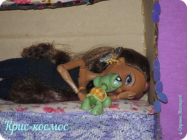 Привет всем! Сегодня я решила сделать историю. И еще Кедру теперь зовут Рокси, а Арзу - Стелла.     Рокси - милая и любознательная девочка. Любит математические и логические задачи. У неё есть 2 питомца: черепаха чету и бабочка Виолла. Роки любит природу и животных. Мечтает на каникулах уехать в лес.  Её же сестра Стелла - девочка городская и  хорошо разбирается в моде. Любит писать диктанты по русскому.    Время 9часов. Девочки спят.   фото 2