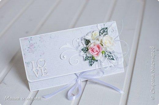 А я еще не всё показала)))) Вот ещё один конверт для денег, в котором можно написать пожелания.  фото 2
