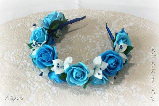 Ободки с цветами из фоамирана. фото 2