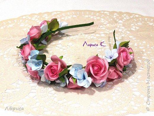 Ободки с цветами из фоамирана. фото 1