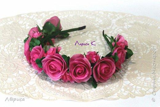 Ободки с цветами из фоамирана. фото 3