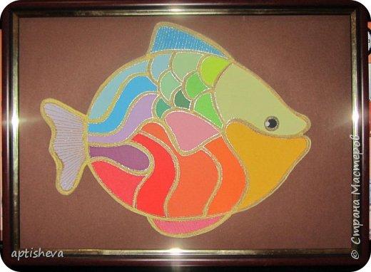 """На занятиях проводила день Чёрного моря, делали с детьми аппликацию """"Рыбка"""". фото 1"""