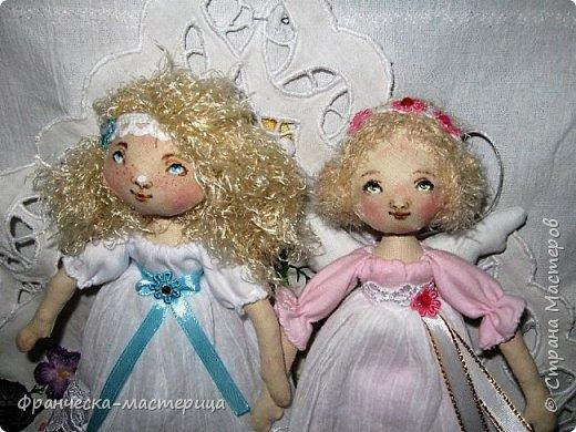 Здравствуйте, дорогие жители СМ!!! Представляю вам моих новых девочек - ангелочков. Рост у малышек 25см. Сшиты из хлопка. фото 3
