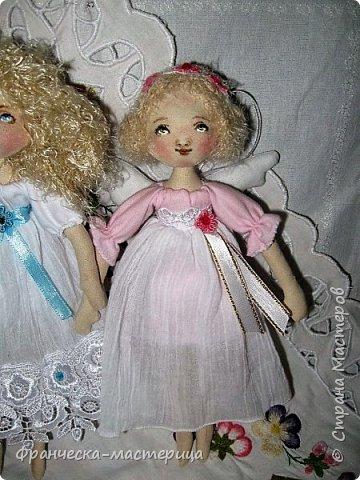 Здравствуйте, дорогие жители СМ!!! Представляю вам моих новых девочек - ангелочков. Рост у малышек 25см. Сшиты из хлопка. фото 4