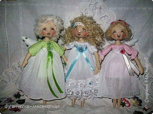 Здравствуйте, дорогие жители СМ!!! Представляю вам моих новых девочек - ангелочков. Рост у малышек 25см. Сшиты из хлопка. фото 1