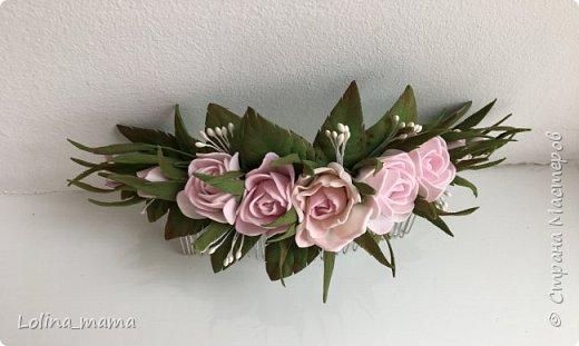 Ободок с розами ''Нежность''. фото 10