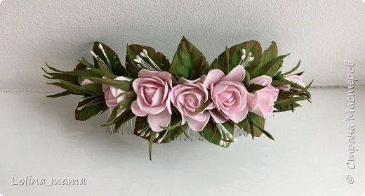 Ободок с розами ''Нежность''. фото 9
