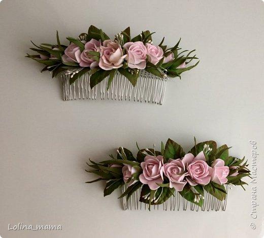 Ободок с розами ''Нежность''. фото 8