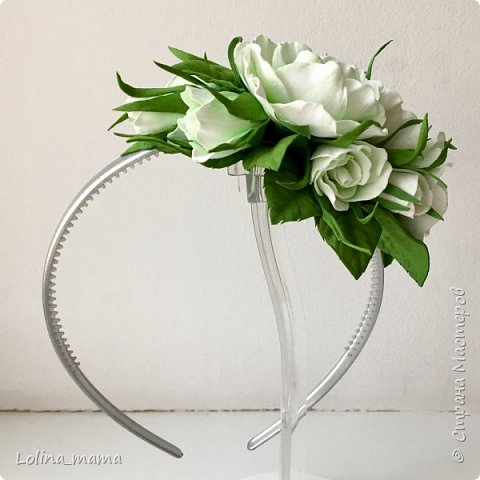 Ободок с розами ''Нежность''. фото 7