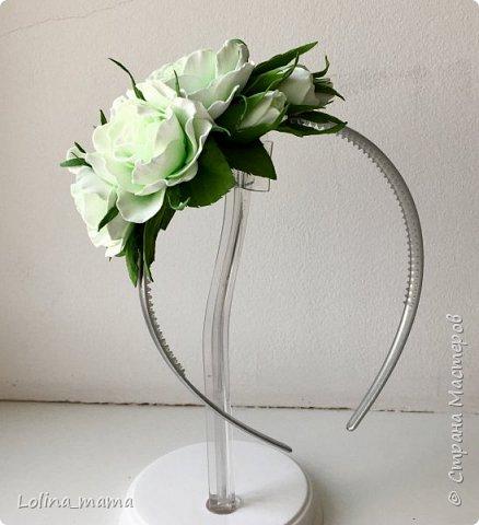 Ободок с розами ''Нежность''. фото 5