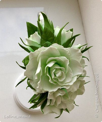 Ободок с розами ''Нежность''. фото 6