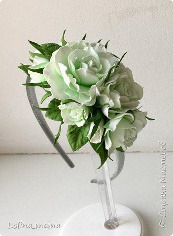 Ободок с розами ''Нежность''. фото 4