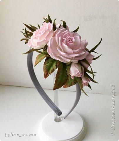Ободок с розами ''Нежность''. фото 2