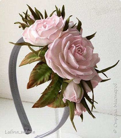Ободок с розами ''Нежность''. фото 1