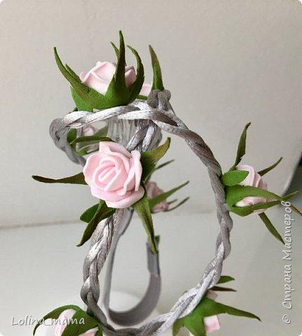 Ободок с розами ''Нежность''. фото 12