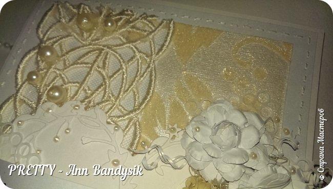 Свадебный комплект. Открытка+конверт для денег. фото 14