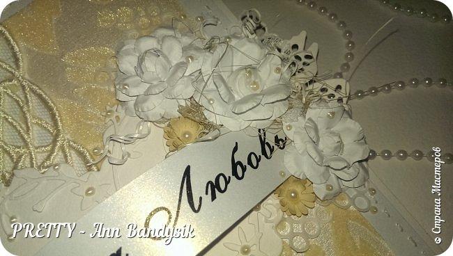Свадебный комплект. Открытка+конверт для денег. фото 13