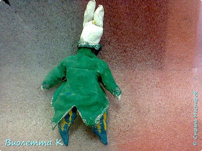 """Вот такой кролик у меня получился. Изначально - герой книги """"Алиса в стране чудес"""". фото 2"""