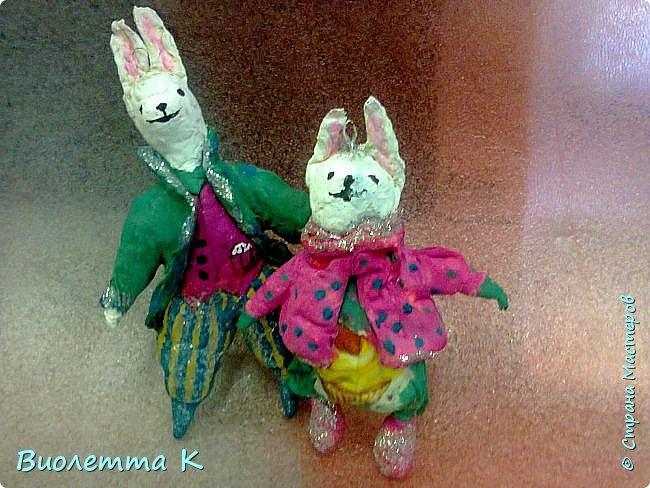 """Вот такой кролик у меня получился. Изначально - герой книги """"Алиса в стране чудес"""". фото 3"""