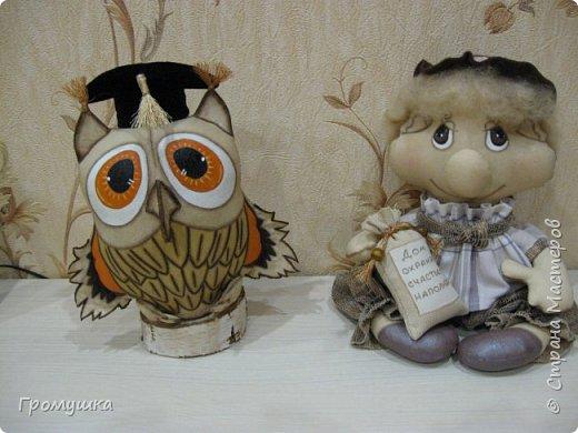 Вот такой молодой домовичек и совушка родились благодаря МК А.Голеневой. фото 1