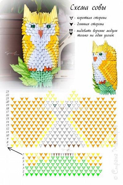 МК по сове нет, но есть схемка (внизу). Сопоставляя её с фотографиями, можно понять, что к чему)) фото 8
