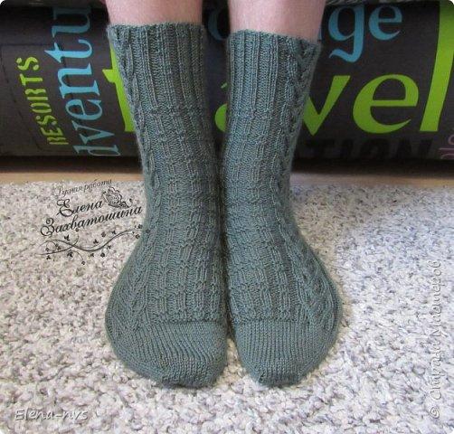 Мужские носки с аранами фото 2