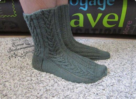 Мужские носки с аранами фото 3